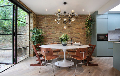 Houzz Tour: Cool Hues and Natural Materials Update a Period House