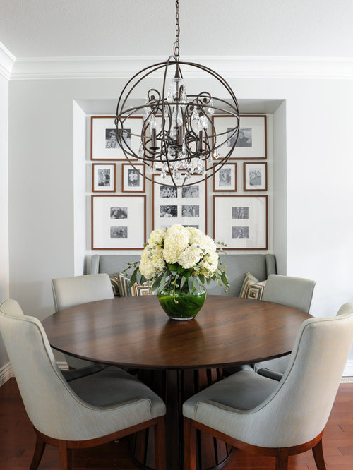 Family room chandelier houzz example of a small transitional medium tone wood floor dining room design in vancouver with gray aloadofball Image collections