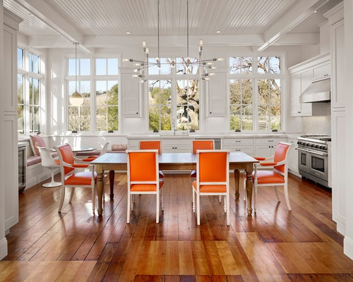 305 Bright Farmhouse Dining Room Design Photos