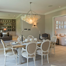 Transitional Dining Room by Peach Studio