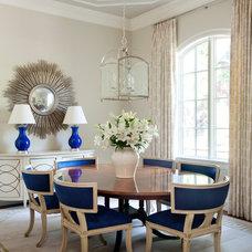 Transitional Dining Room by Tobi Fairley Interior Design