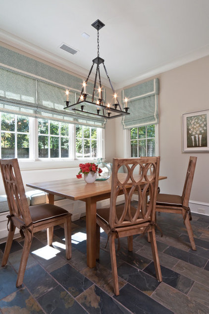 Transitional Dining Room by Anna Baskin Lattimore Design