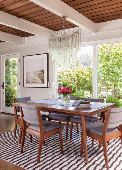 Midcentury Dining Room by BK Interior Design