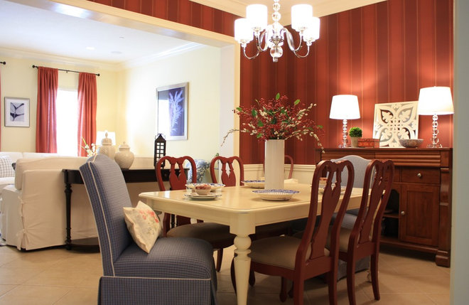 Traditional Dining Room by IN Studio & Co. Interiors