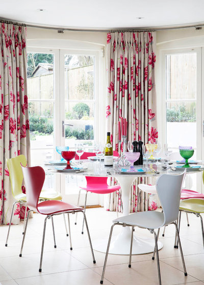 Transitional Dining Room by Paul Warren Design