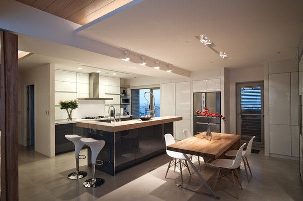 Contemporary Dining Room by PMK+designers