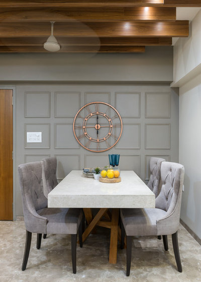 Transitional Dining Room by Da Namah design studio