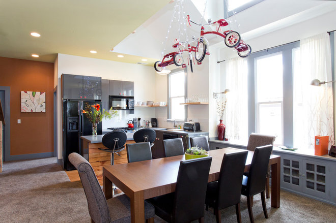 Contemporary Dining Room by Encircle Design and Build