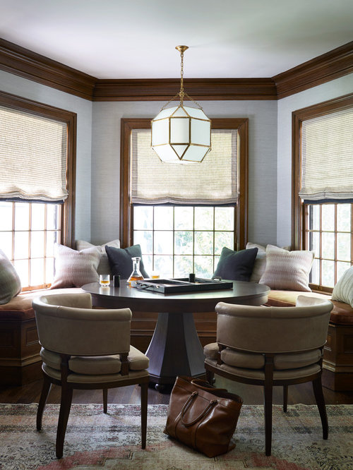 Traditional Family Room Design Part - 36: Elegant Dark Wood Floor And Brown Floor Game Room Photo In Boston With Gray  Walls