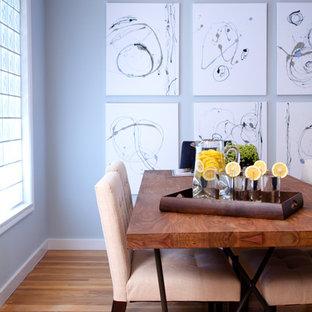 Modelo de comedor actual con paredes grises