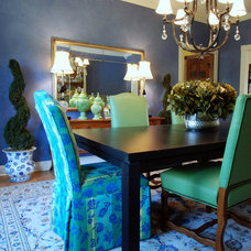 Eclectic Dining Room by Laurie Kertis, Ltd.