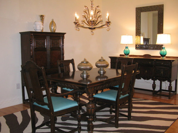 Eclectic Dining Room by Shoshana Gosselin
