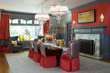 Eclectic Dining Room by Jennifer Stoner Interiors