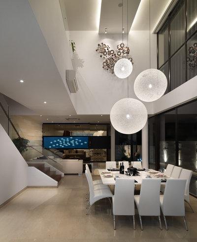 Tavolo da pranzo buio impara a scegliere la giusta illuminazione - Illuminazione sala da pranzo ...