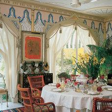 Mediterranean Dining Room by architecturaldigest.com