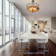 Contemporary Dining Room by Thomas Roszak Architecture, LLC
