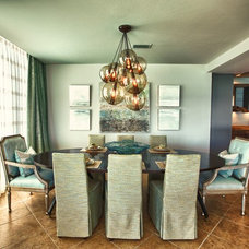 Beach Style Dining Room by Cara McBroom, Licensed Interior Designer