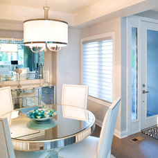 Transitional Dining Room by Ambiance Window Coverings