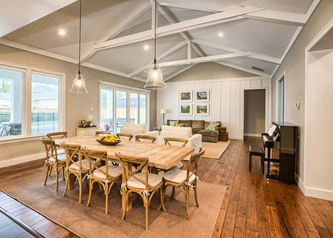 Country Dining Room by Dibros Design & Construction