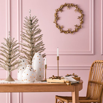Silver & Gold Holiday Dining Room Tabletop Collection