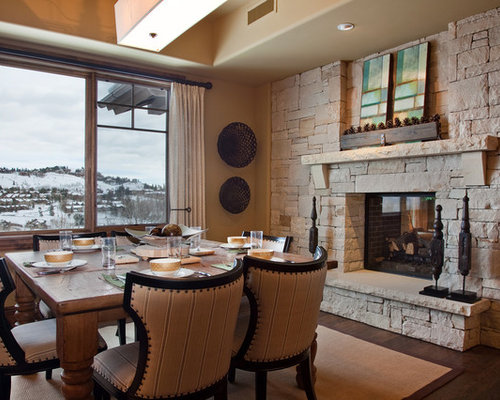 SaveEmail - Best Stone Wall Fireplace Design Ideas & Remodel Pictures Houzz