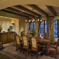 rustic dining room by R.J. Gurley Custom Homes