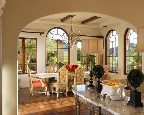 Decor Wonderland Frameless Tri Bevel Wall Mirror: Mediterranean Dining Room Design Ideas, Pictures, Remodel