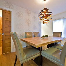 Contemporary Dining Room by Sticks and Stones Design Group inc.