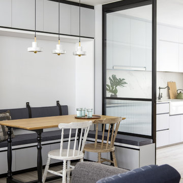 Simple Grey Home - Dining Room