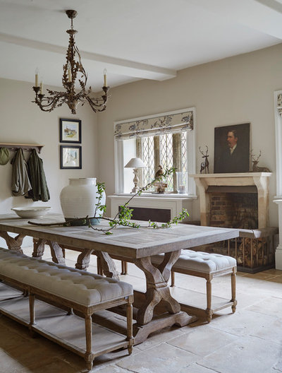 Traditional Dining Room by Sims Hilditch