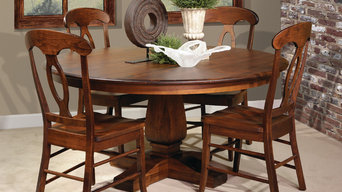 Single Pedestal Dining Table Set
