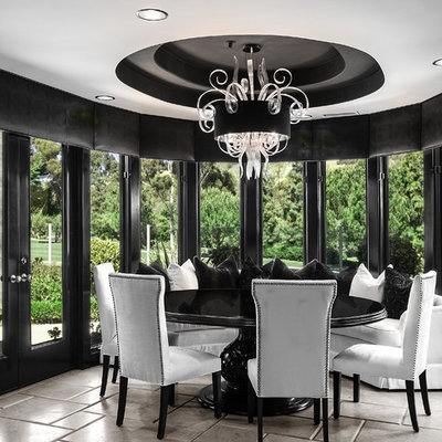 Example of a mid-sized trendy dining room design in Orange County