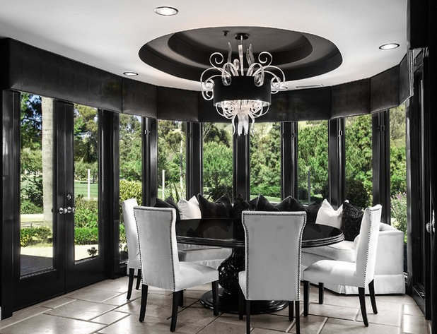 Contemporary Dining Room by Orange Coast Interior Design