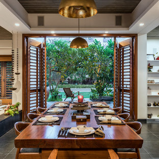 75 Tropical Dining Room Design Ideas - Stylish Tropical Dining Room ...