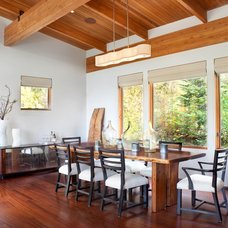 Rustic Dining Room by Hunter and Company Interior Design