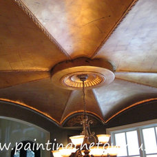 Mediterranean Dining Room by Painting the Town, Inc.