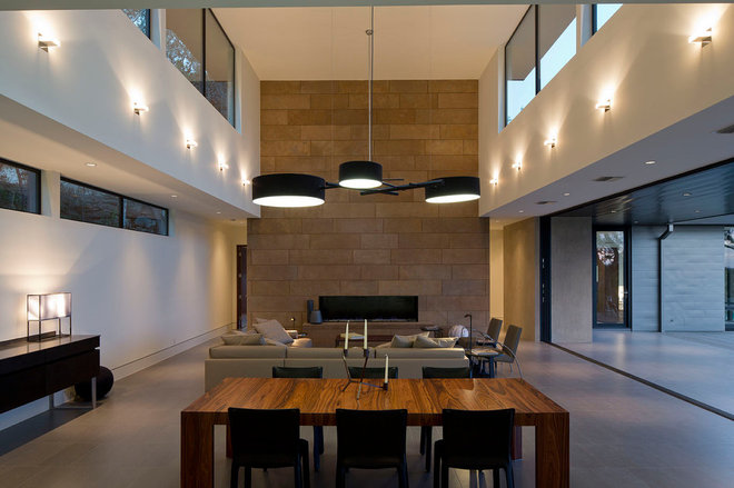 Contemporary Dining Room by Jon Luce Builder