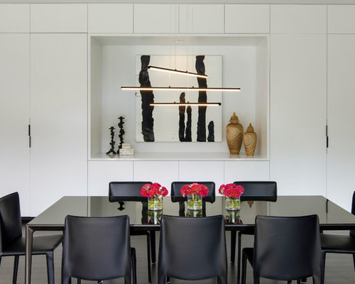 Trendy Dark Wood Floor And Black Great Room Photo In Minneapolis With White Walls