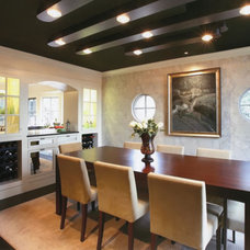 Contemporary Dining Room by Nautilus Architects LLC