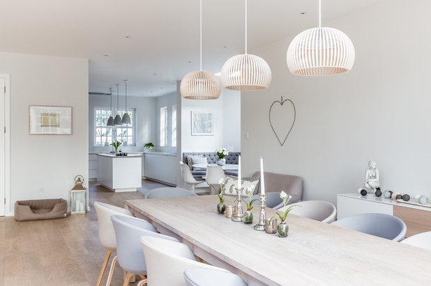 Sleek Scandinavian Kitchen Style Skandinavisch Esszimmer