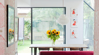 Sliding doors open out to the garden