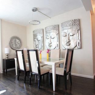 Cette image montre une salle à manger asiatique.