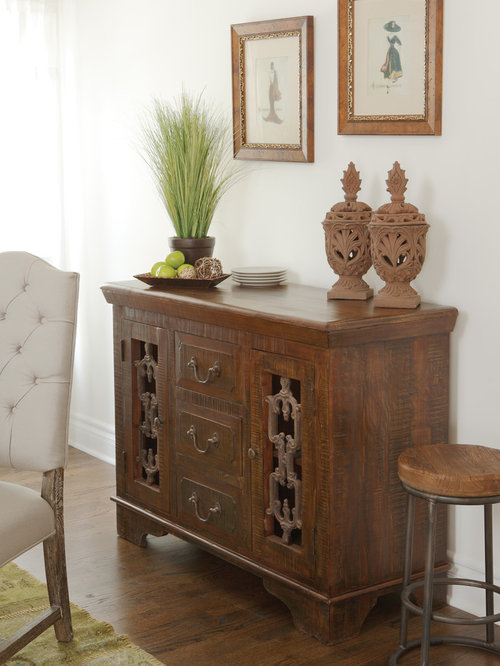 Reclaimed wood furniture for Traditional dining room sideboard