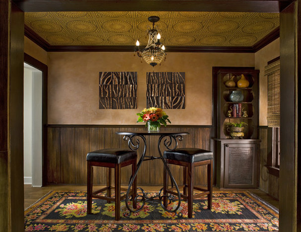 Eclectic Dining Room by Grace Designs Dallas