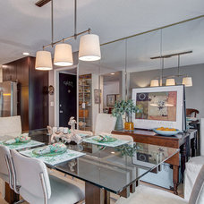 Contemporary Dining Room by Maria DeGange