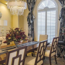 Mediterranean Dining Room by Housetrends Magazine