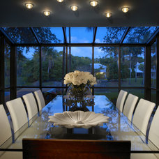 Contemporary Dining Room by Michael Wolk Design Associates