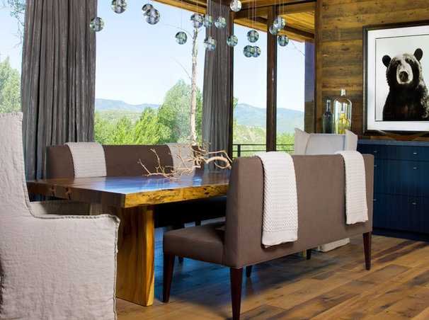 Eclectic Dining Room by Slifer Designs