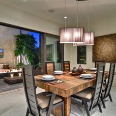 Contemporary Dining Room by Brandon Architects, Inc.