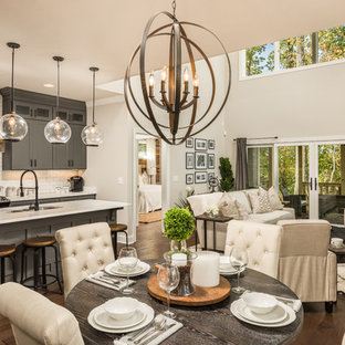 Inspiration for a country dining room remodel in Other